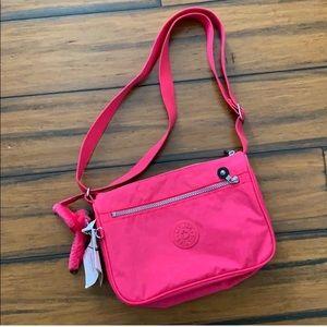 Kipling pink messenger crossbody bag NWT